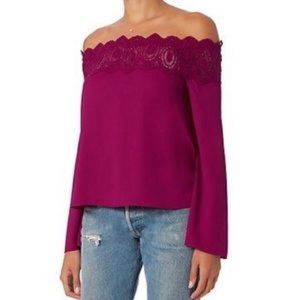 Intermix Behati Lace Off the Shoulder Top